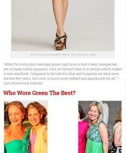 "Washington Life Magazine's ""Trend Report: Mermaid Green"""