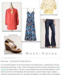 "Rosa Loves DC's ""Spring 2011 Fashion Wish List"""