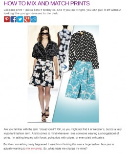"Beauty Riot's ""How To Mix and Match Prints"""