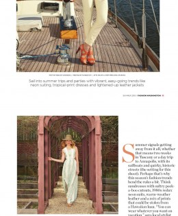 "Fashion Washington Magazine's ""Traveling Bright"""