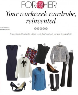 "Aleteia For Her's ""Your New Workweek Capsule Wardrobe"""
