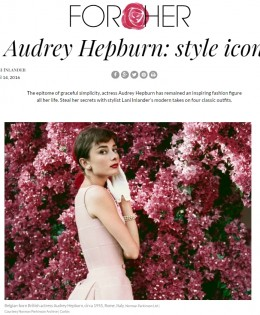 "Aleteia For Her's ""Audrey Hepburn, Style Icon"""