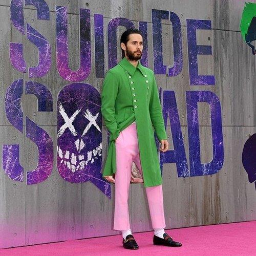 green jared leto coat