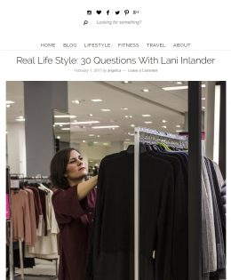 "Angelica in the City's ""30 Questions with Lani Inlander"""