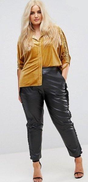 plus size leather pants asos