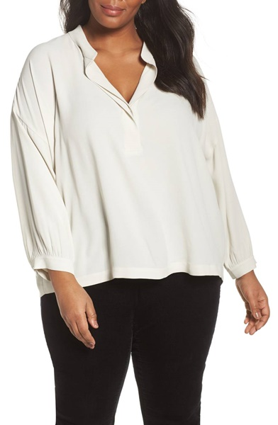 plus size eileen fisher blouse