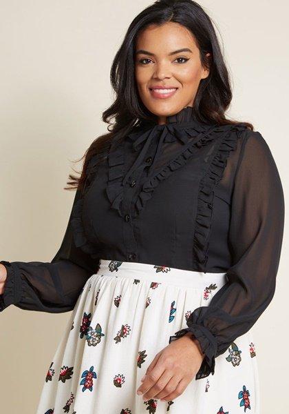 plus size modcloth blouse