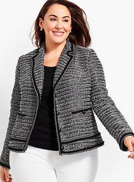 plus size tweed jacket talbots